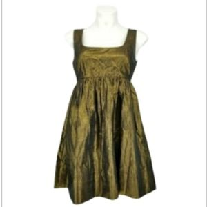 DKNY Gold Evening Bow Tie Dress Size 4